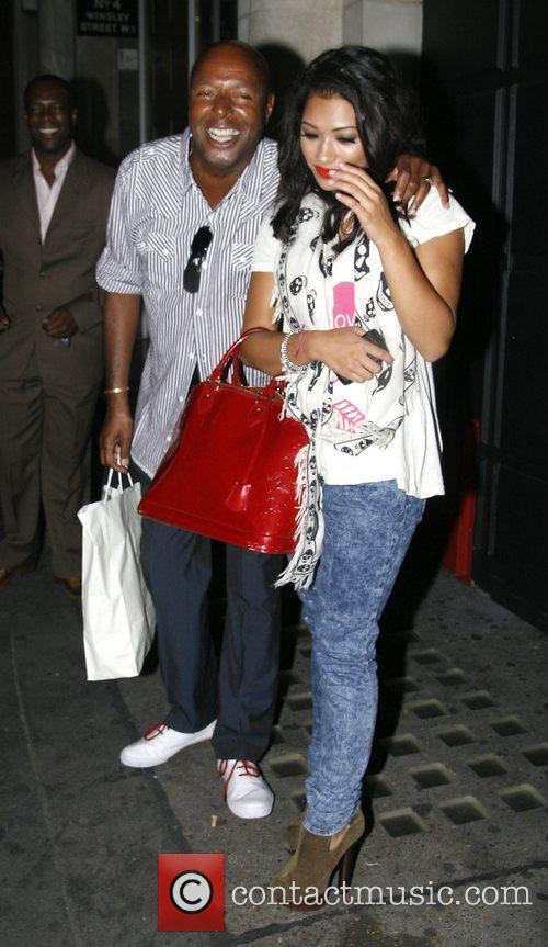 Vanessa White of The Saturdays outside China White