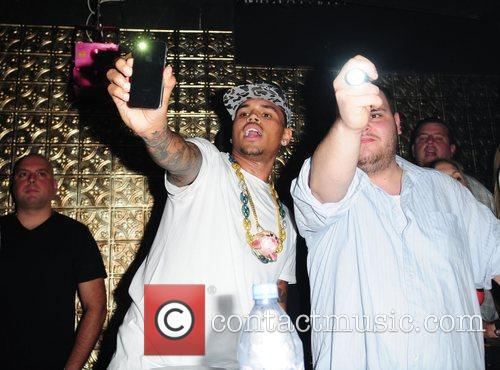 Chris Brown  400 club party at LUX...