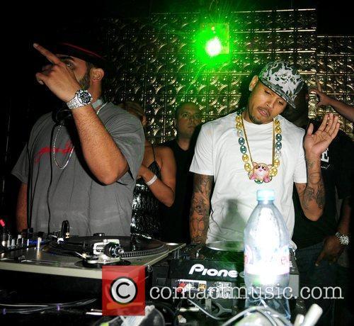 DJ Affect and Chris Brown on deck...