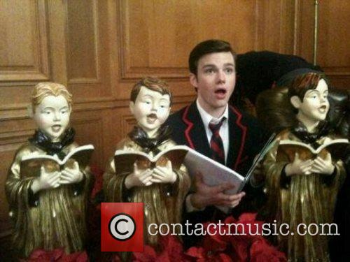 Chris Colfer posts a pic on Plixi.com with...
