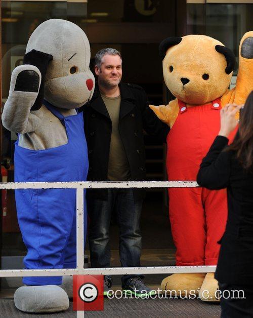 DJ Chris Moyles poses outside the BBC Radio...