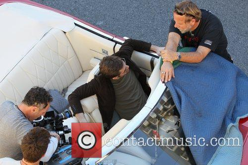 Filming a scene for his new movie 'Welcome...