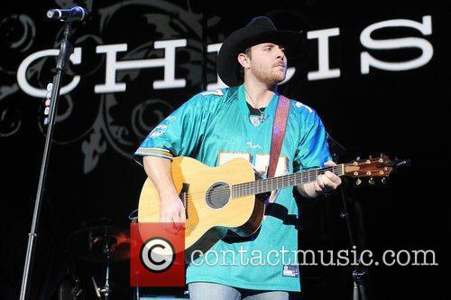 Chris Young performs at the Cruzan Amphitheater in...