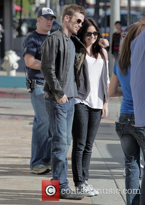 Cam Gigandet  on the set of his...