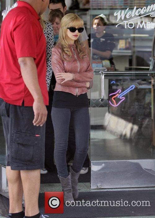 Christina Aguilera on the set of their new...