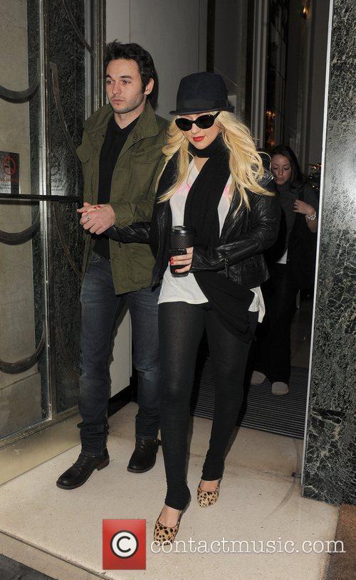 Christina Aguilera and her new boyfriend Matt Rutler...