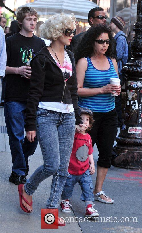 Christina Aguilera, her son Max Bratman and family 14