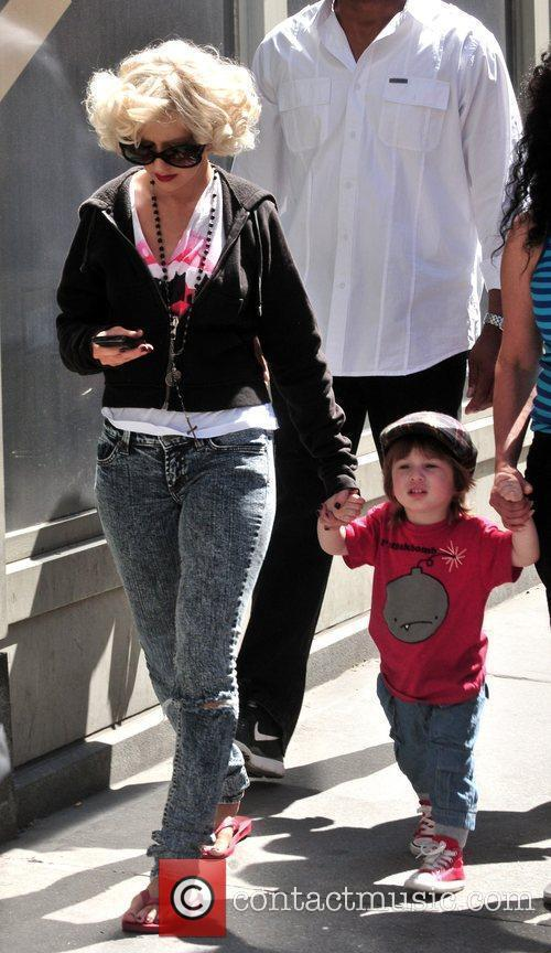 Christina Aguilera, her son Max Bratman and family 17