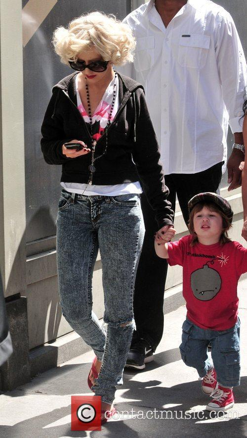 Christina Aguilera, her son Max Bratman and family 19