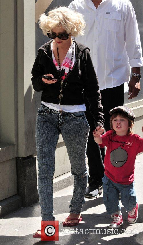 Christina Aguilera, her son Max Bratman and family 15