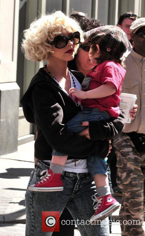Christina Aguilera, her son Max Bratman and family 12