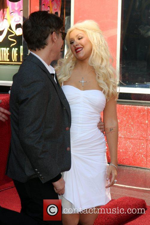 Christina Aguilera receives a star on The Hollywood...