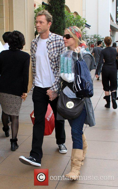Christina Applegate and boyfriend go shopping together at...