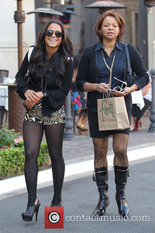 Christina Milian and her mother Carmen Milian out...