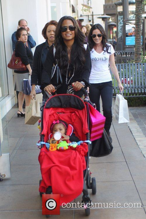 Christina Milian and her mother Carmen Milian take...