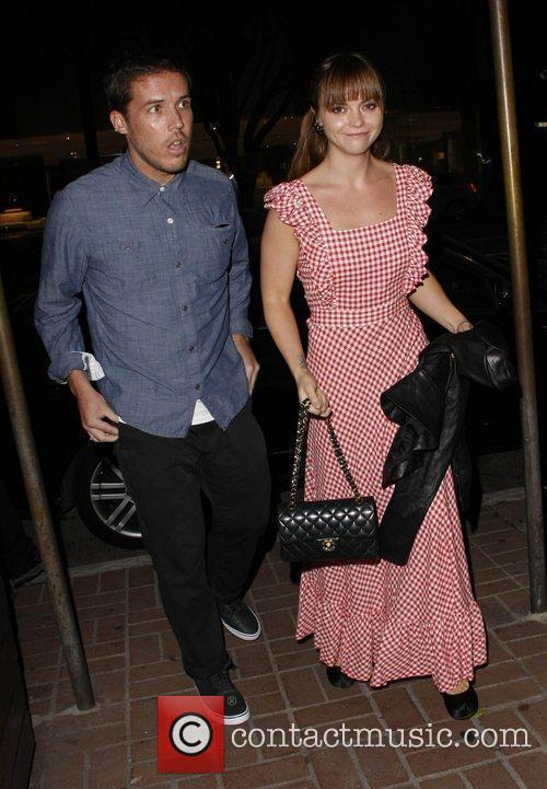 Christina Ricci and Curtis Buchanan outside Madeo restaurant...
