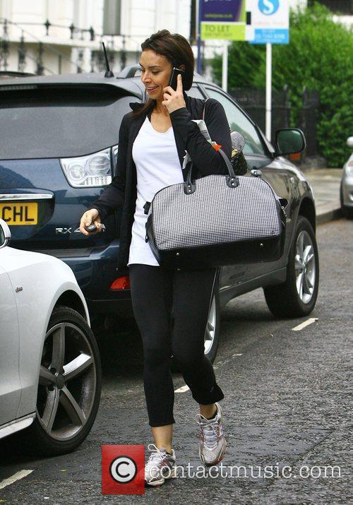 Christine Bleakley getting into her car as she...