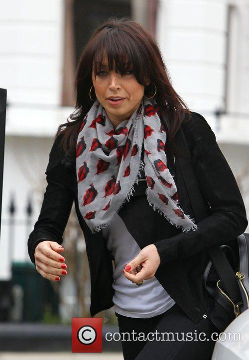 Christine Bleakley leaving home with her sister to...