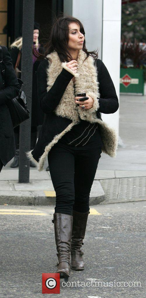 Christine Bleakley leaving a restaurant after being interviewed...