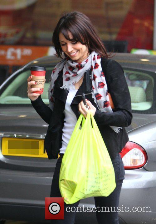 Christine Bleakley leaving a garage after doing shopping...