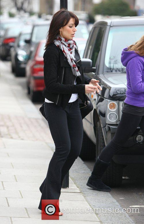Christine Bleakley leaving Frank Lampard's house with her...