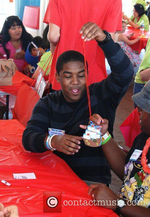 Christopher Massey volunteers at the Santa Monica Pier...
