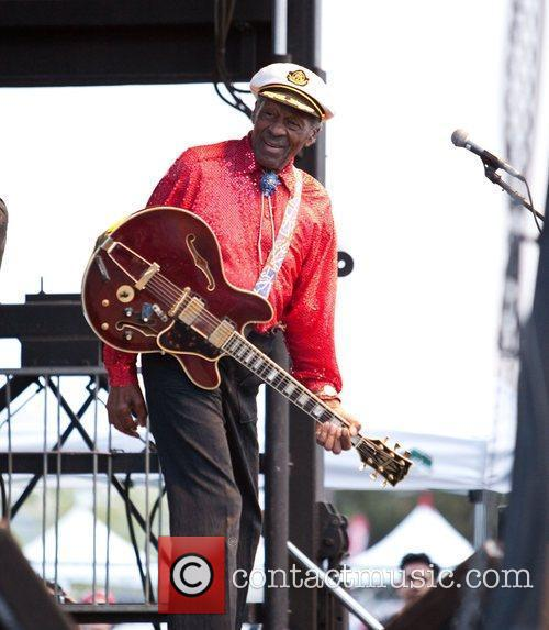 Chuck Berry (aged 84) performs during the Las...