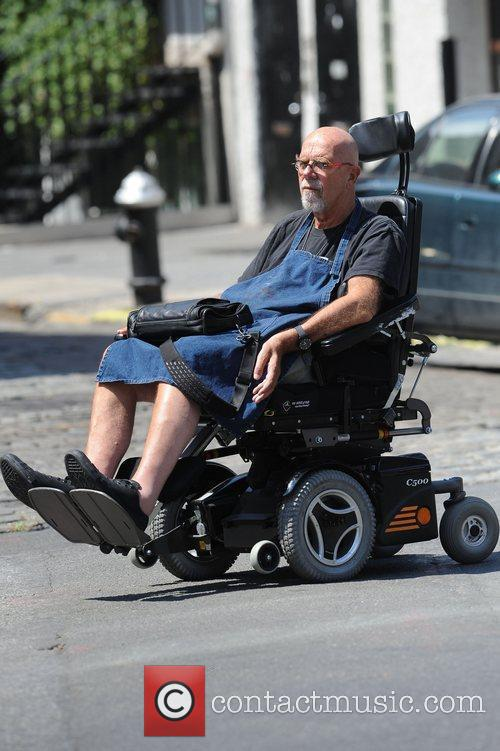 Artist Chuck Close on his way to his...