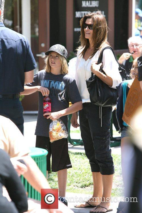 Cindy Crawford and her son Presley Cindy Crawford...