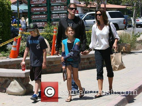 Cindy Crawford enjoys lunch with her family in...