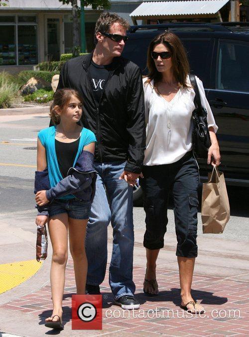 Cindy Crawford and her daughter Kaya and husband...