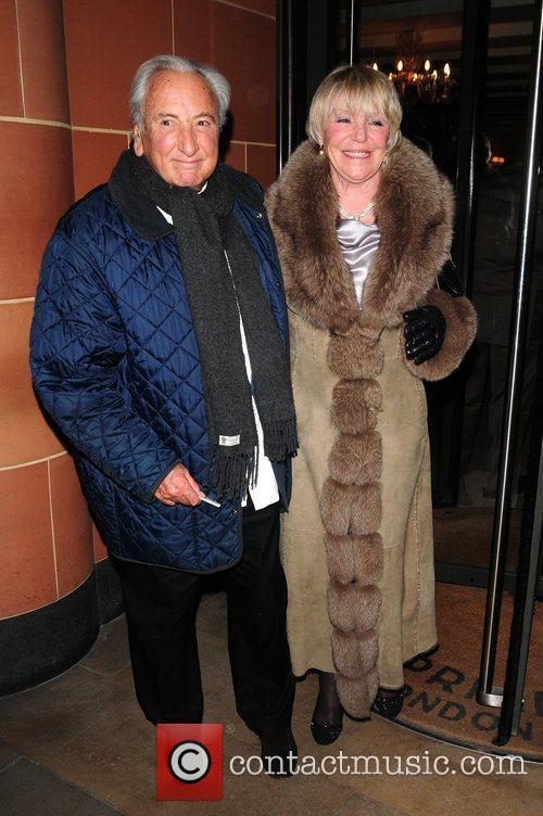 Michael Winner leaving Cipriani restaurant