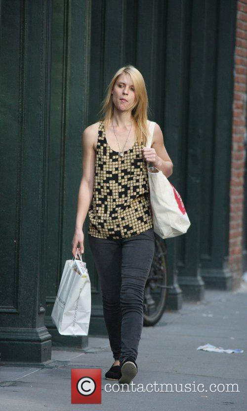Claire Danes was spotted shopping in Soho