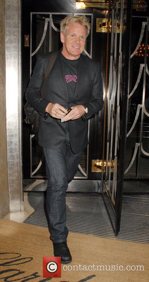 Gordon Ramsay leaving Claridges London, England