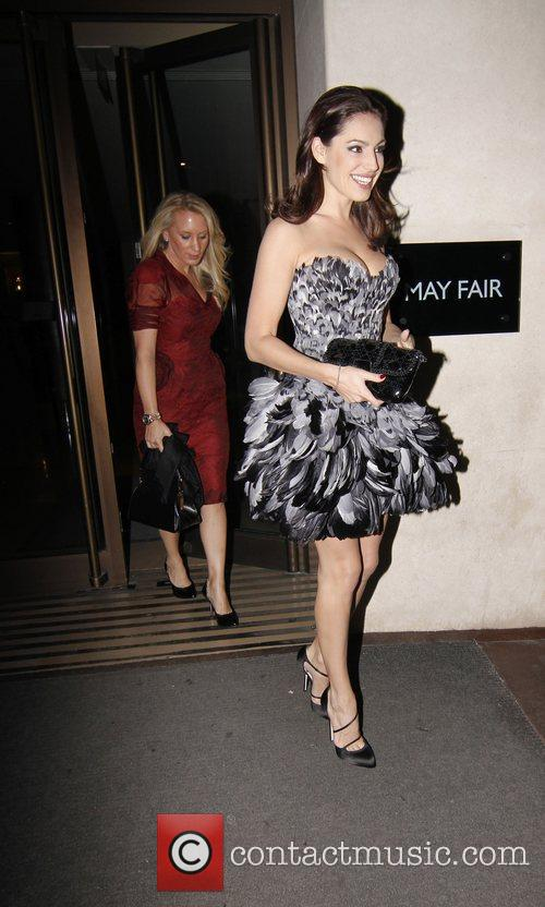 Kelly Brook leaving The May Fair Hotel on...
