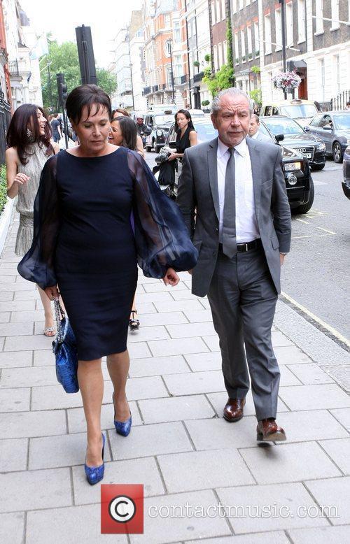 Ann Sugar and Alan Sugar arrive at Claridges...