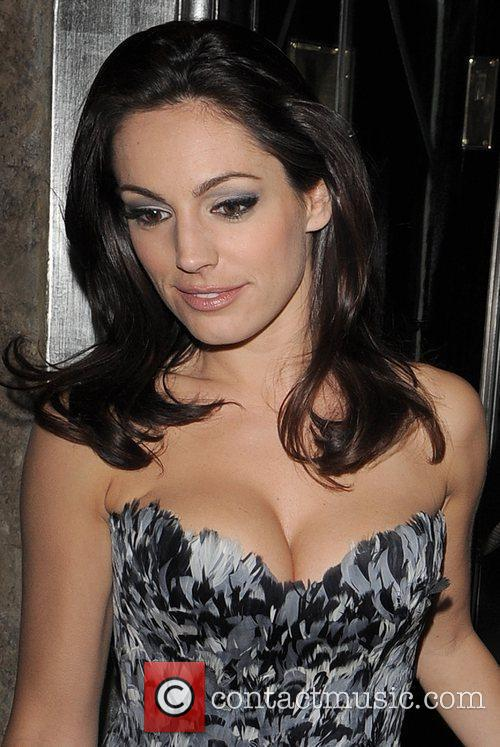 Kelly Brook leaving the Dior private dinner, held...