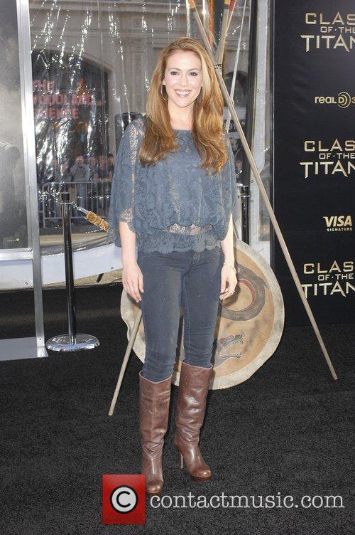 Alyssa Milano The Los Angeles Premiere of 'Clash...