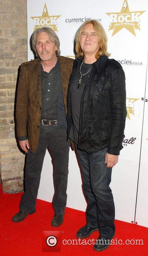 Scott Gorham and Joe Elliott ,  at...