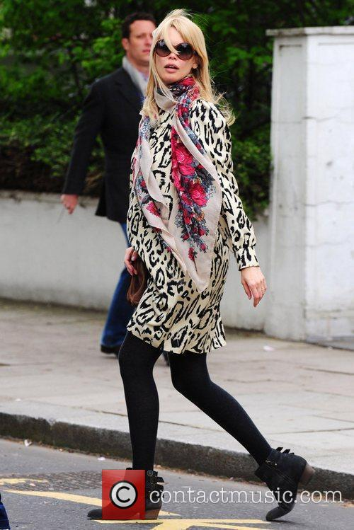 Claudia Schiffer takes her son to school