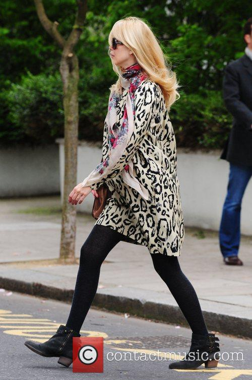 Claudia Schiffer takes her son to school London,...