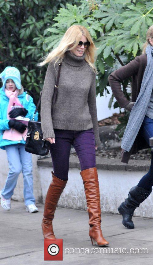 Claudia Schiffer goes to Portobello Market with a...