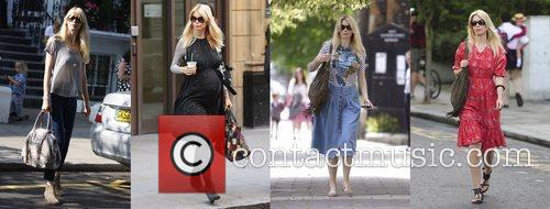 Claudia Schiffer makes her way home after taking...