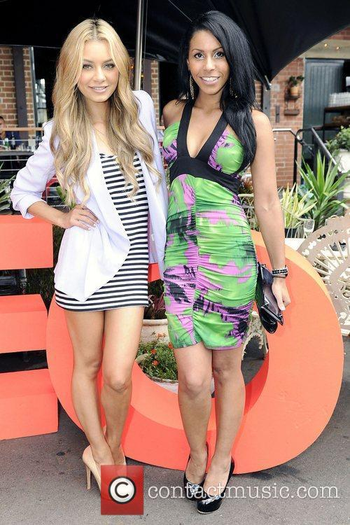DJ Havana Brown (left) and Miss Australia Ashleigh...