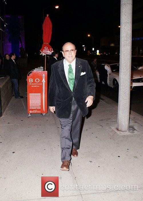 Clive Davis out and about in Los Angeles...