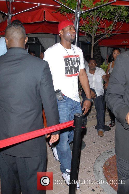 Dwyane Wade departs club MIA at Biscayne Miami,...