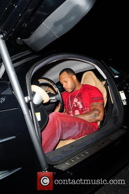 Rapper Flo Rida arriving at Club Play for...
