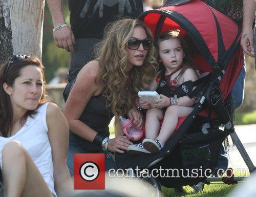 Drea de Matteo and daughter Alabama Jennings at...