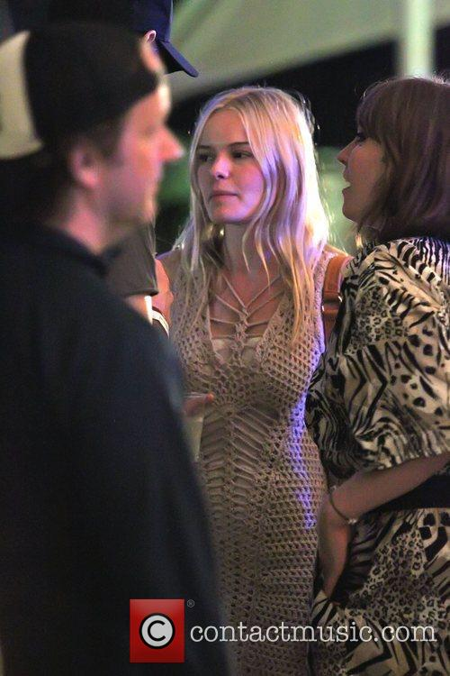 Kate Bosworth chatting and laughing with friends at...