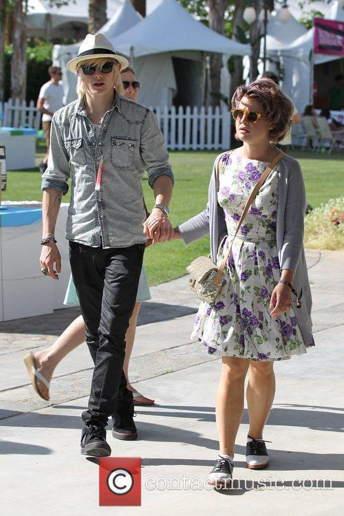 Luke Worrall and Kelly Osbourne
